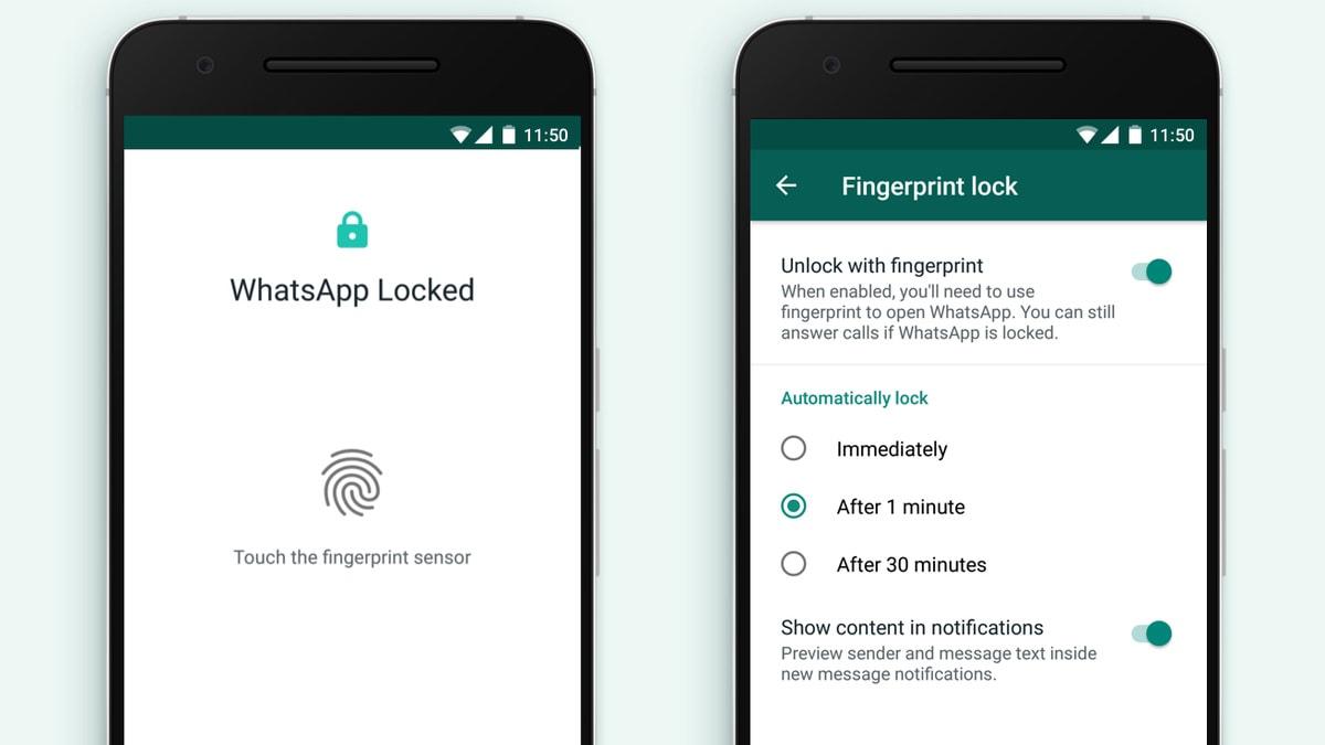 Desbloqueo con huella dactilar de WhatsApp está disponible para Android