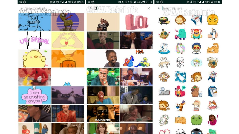 whatsapp gif sticker search wabetainfo twitter WhatsApp GIF