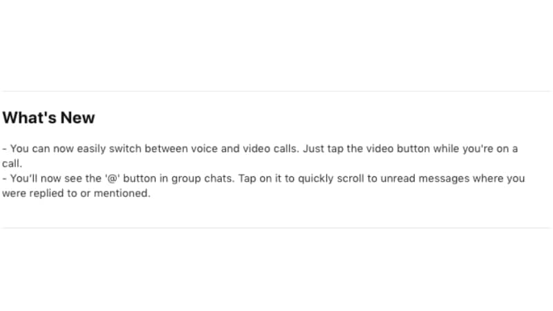 whatsapp ios features WhatsApp iOS Voice to Video Call Features