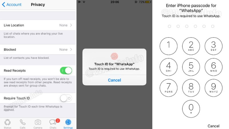 whatsapp iphone touch id face id WhatsApp for iPhone