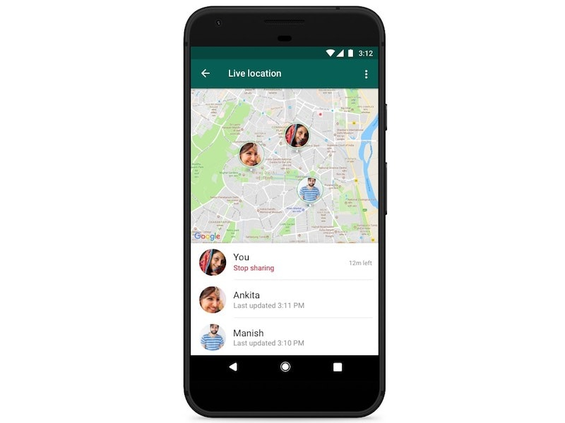 WhatsApp now rolling out live location sharing