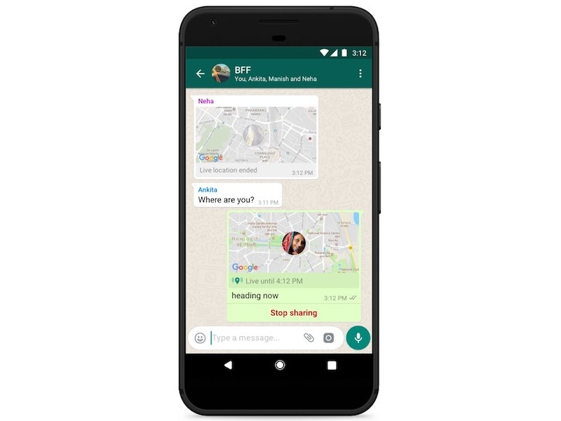 whatsapp live location sharing WhatsApp Live Location