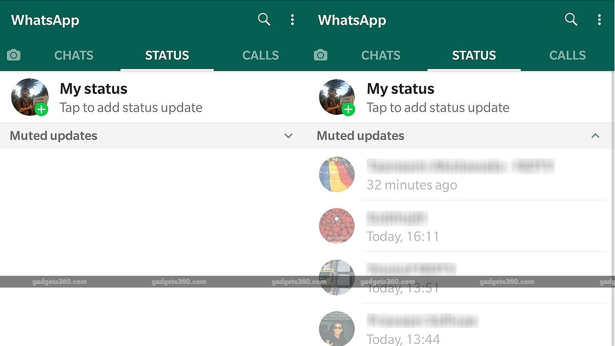 Whatsapp Now Hides Muted Status Updates On Android Beta V2