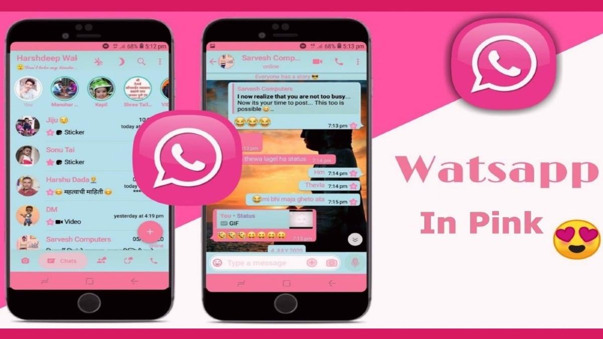 whatsapp pink interface image twitter rajshekhar rajaharia WhatsApp Pink