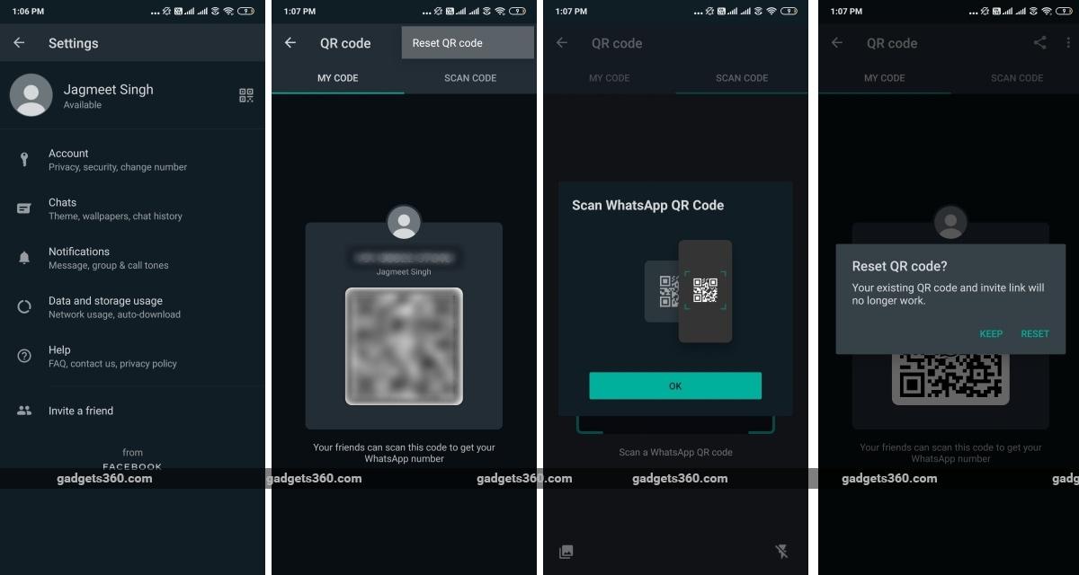 whatsapp qr code support android beta gadgets 360 WhatsApp