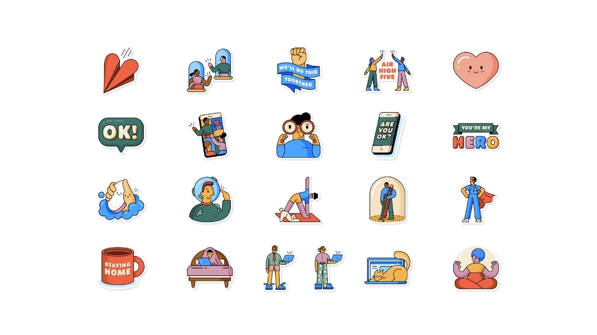 WhatsApp Launches New 'Together at Home' Sticker Pack for Coronavirus Lockdown Chats