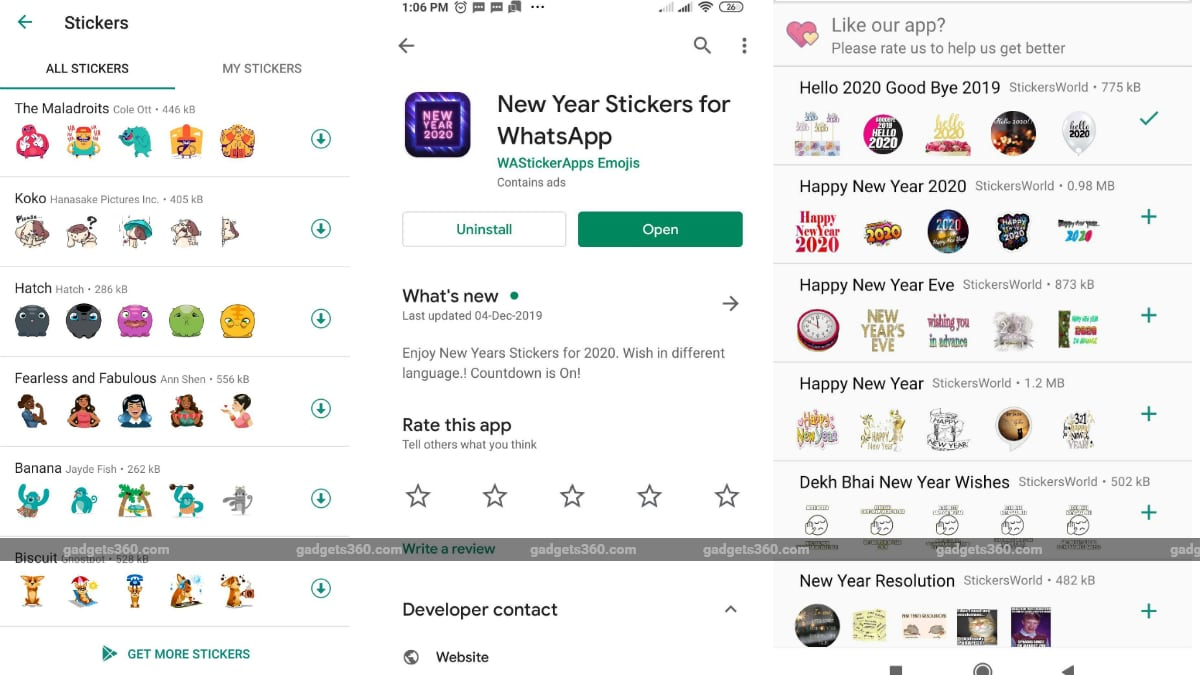 Happy New Year 2020 Whatsapp Stickers How To Find Create