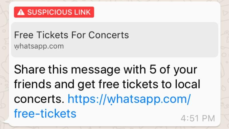 whatsapp suspicious link story 1 WhatsApp