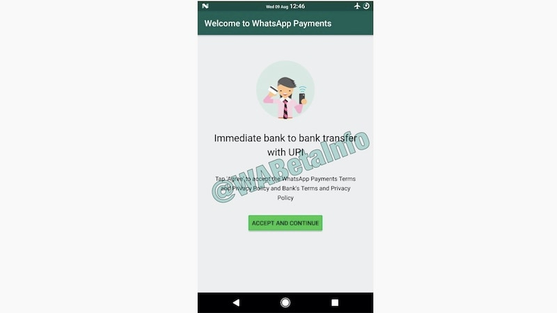 whatsapp upi payment wabetainfo WhatsApp
