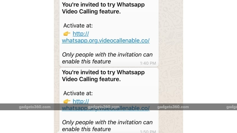 whatsapp video calling invite link scam variation gadgets360 whatsapp