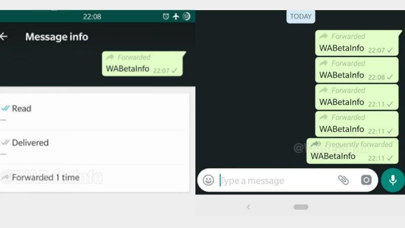 WhatsApp to tell how many times a post was forwarded