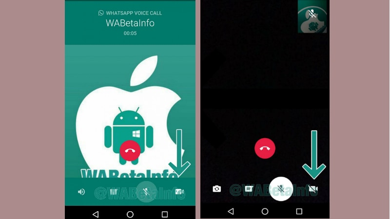 WhatsApp Video to Voice Call Switch Spotted, New App for Businesses Tipped