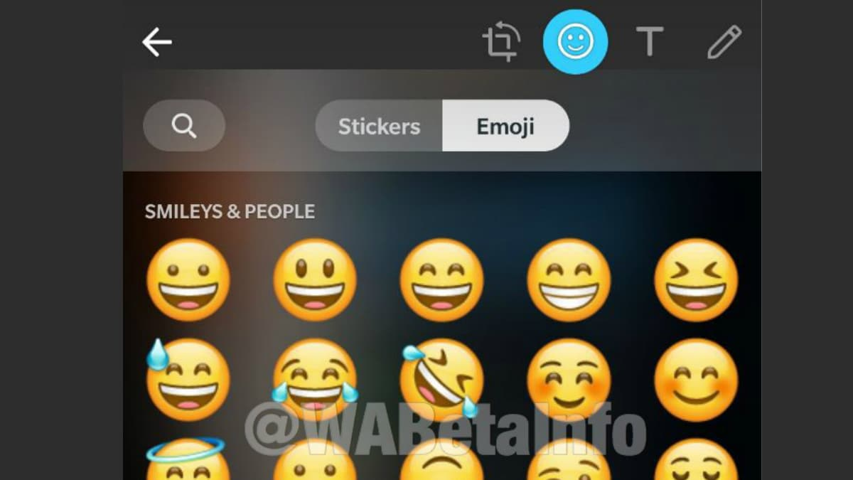 WhatsApp Spotted Testing Emoji Category in Doodle Picker