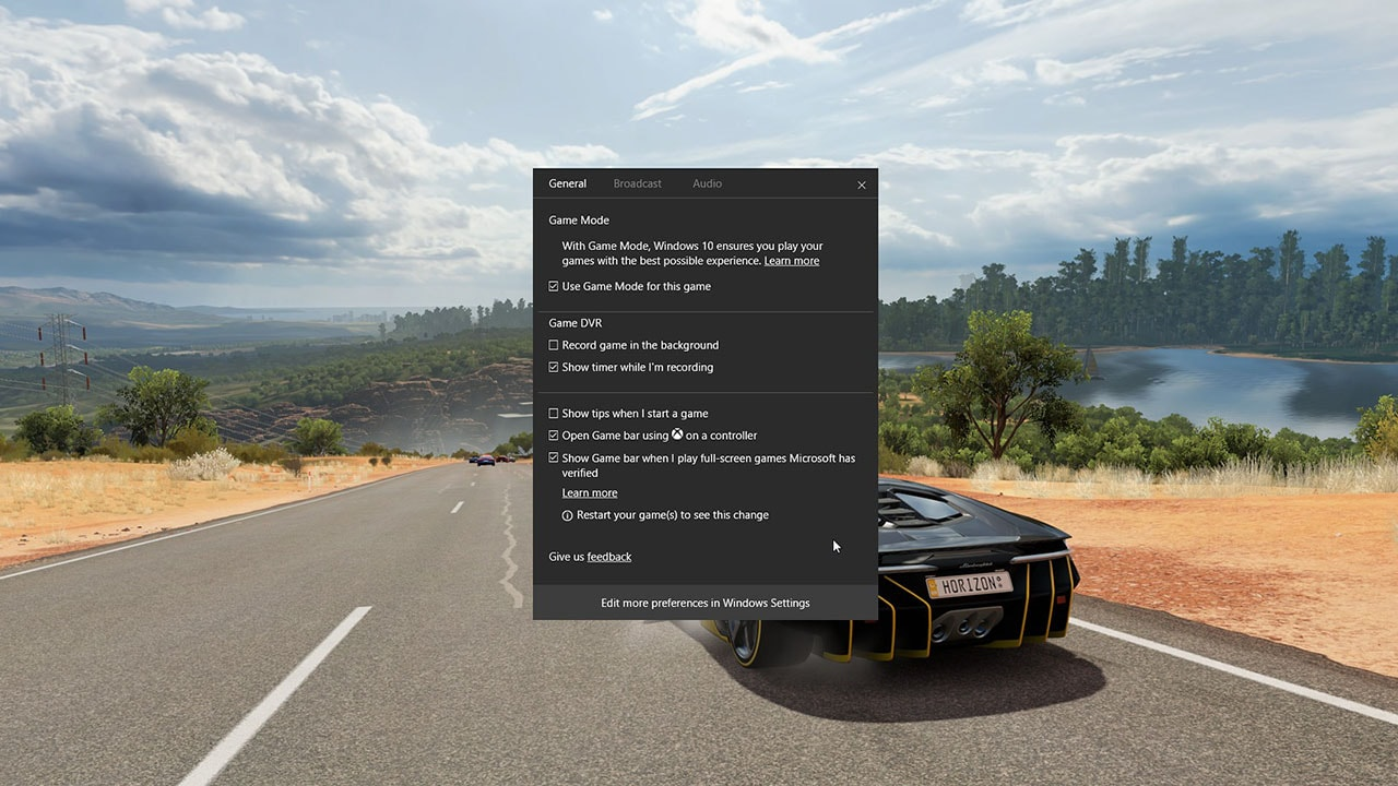 Windows 10 Creators Update: Game Mode, Broadcasting via Beam