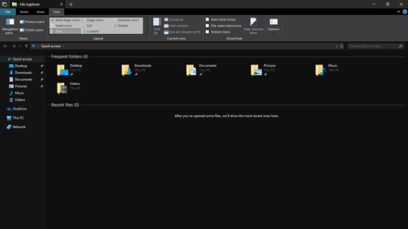 windows 10 insider preview dark mode main Windows 10 Insider Preview Build 17666