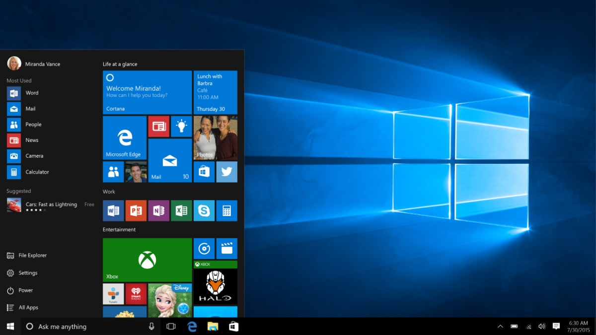 Microsoft Teases New Start Menu Design for Windows 10
