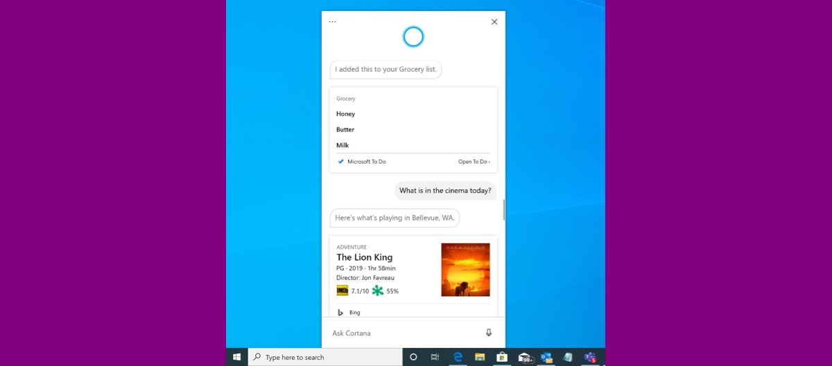 Microsoft's New Cortana App for Windows 10 Released in Preview Build