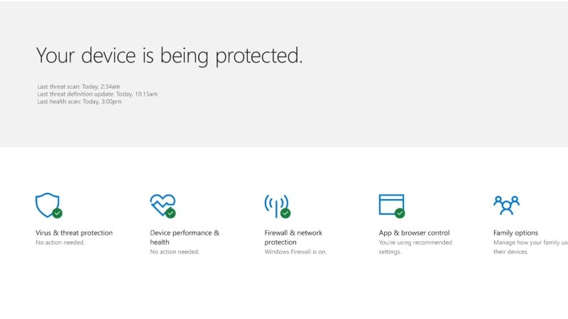 Windows 10 Creators Update to Bring New Windows Defender Security Center