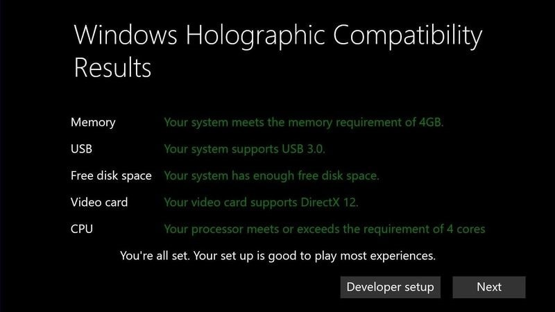 windows holographic requirements story Windows Holographic UI Requirements