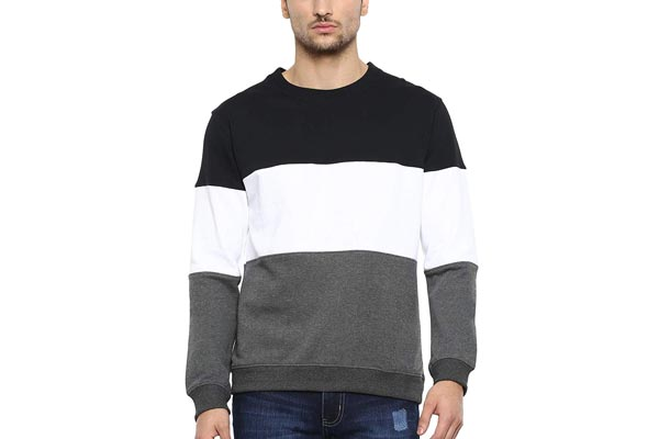 Winter Wear for Mens in India 2019 - AMERICAN CREW Men's Cotton Poly Fleece Sweatshirt