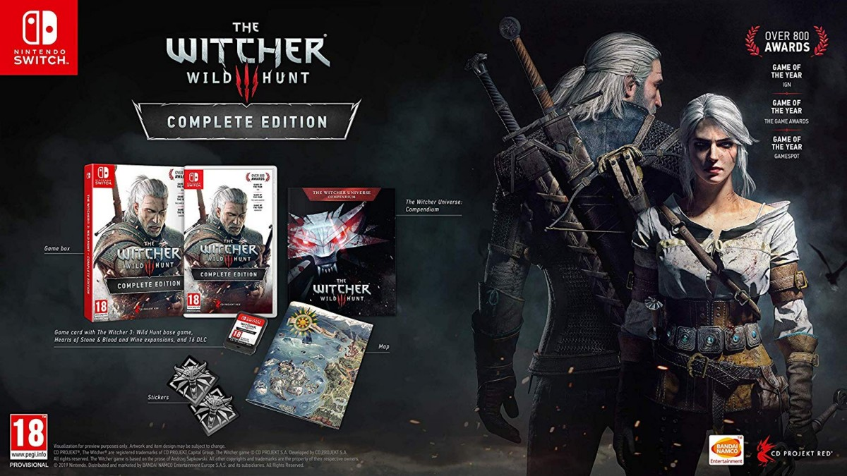The Witcher 3: Wild Hunt for Nintendo Switch Set to Release on October 15, Now Up for Pre-Orders With 2 Expansions