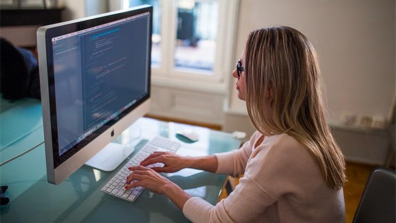 woman coder imac unsplash Coder