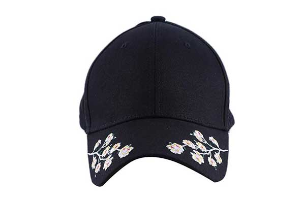 ae30ac60dde Firecolo Womens Baseball Cap Embroidery Flower Symmetric Cotton Hat