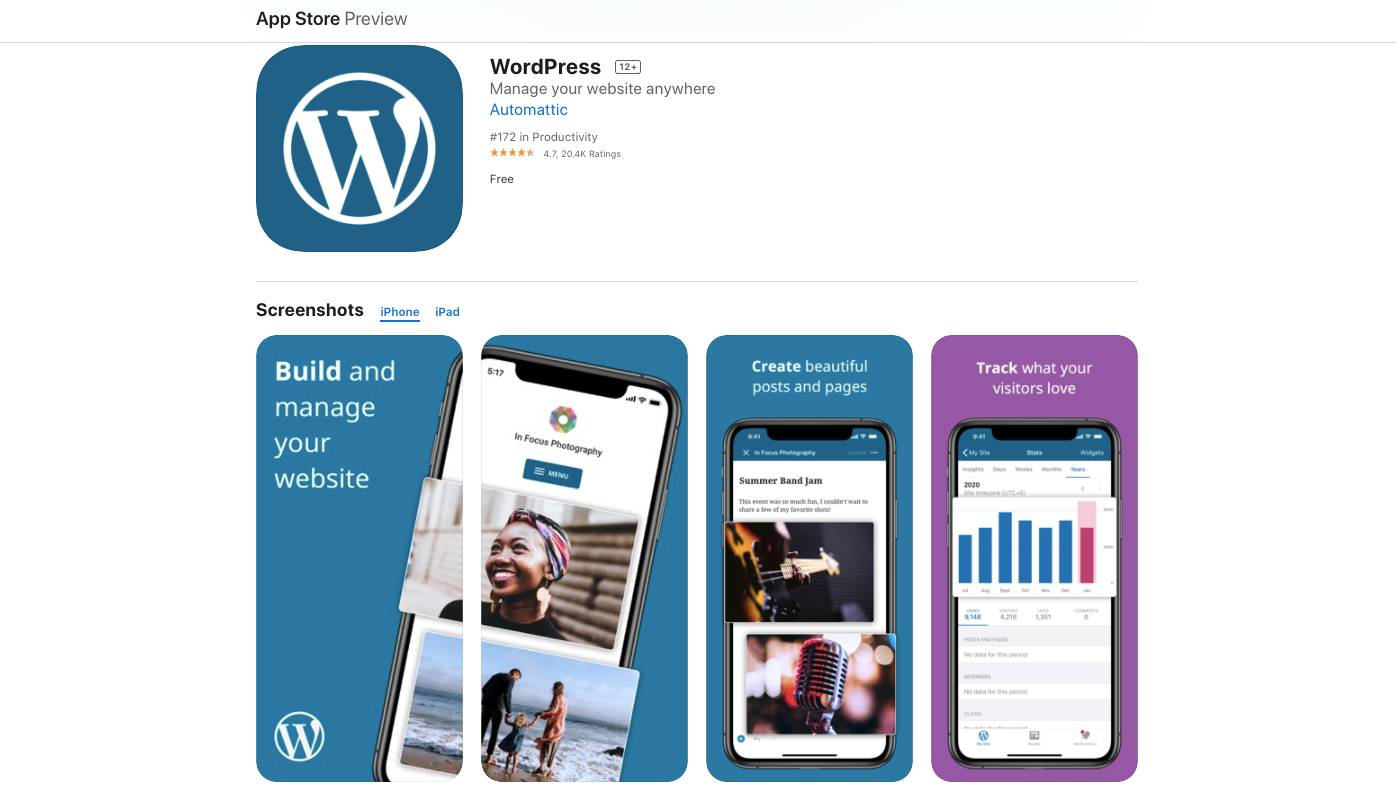 wordpress app store Wordpress