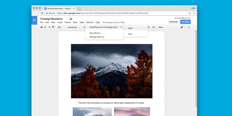 wordpress com for google docs 2 wordpress