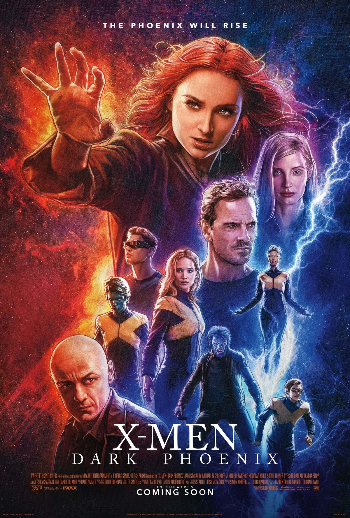 x men dark phoenix poster 2 X Men Dark Phoenix poster