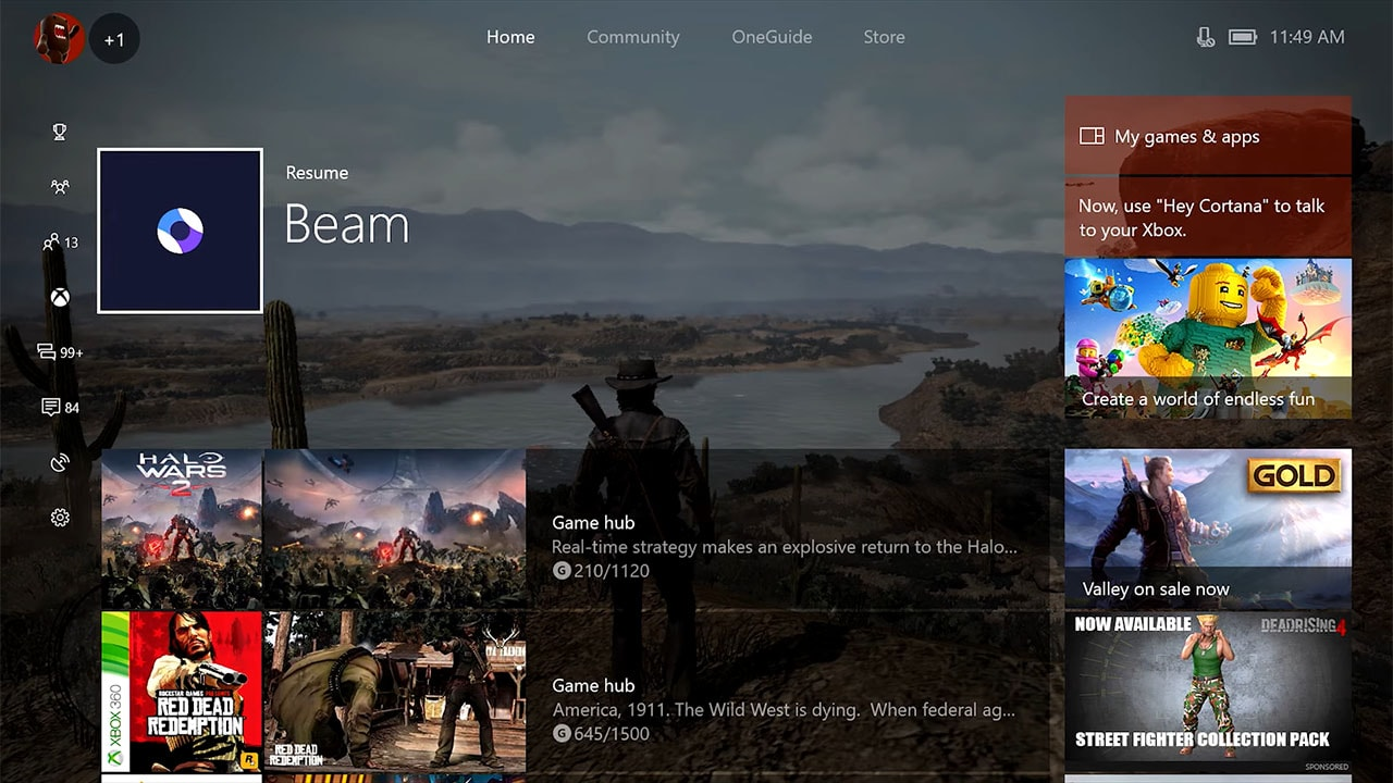 Xbox One Update Brings Beam Streaming, Updated Home, and More