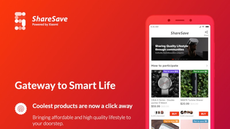 Xiaomi ShareSave E-Commerce Platform Launched in India, Makes It Easier to Order Products From China