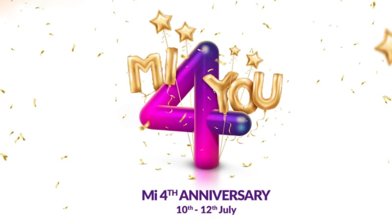 Xiaomi 4th Mi Anniversary Sale to Begin on July 10: Major Offers, Deals Revealed