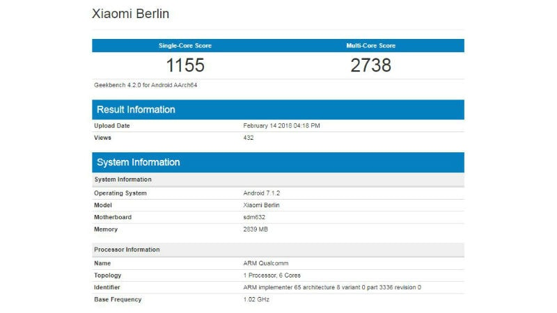 Mysterious Xiaomi Berlin and Dipper smartphones spotted on Geekbench