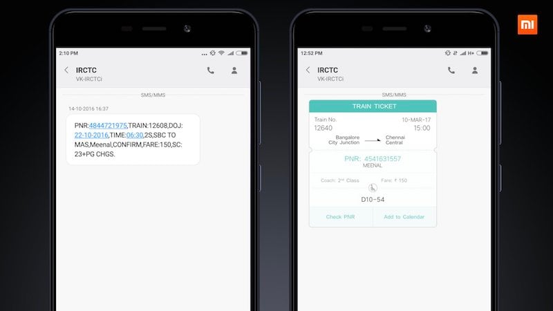 Xiaomi Unveils Smart IRCTC SMS Feature That's Coming Soon to MIUI