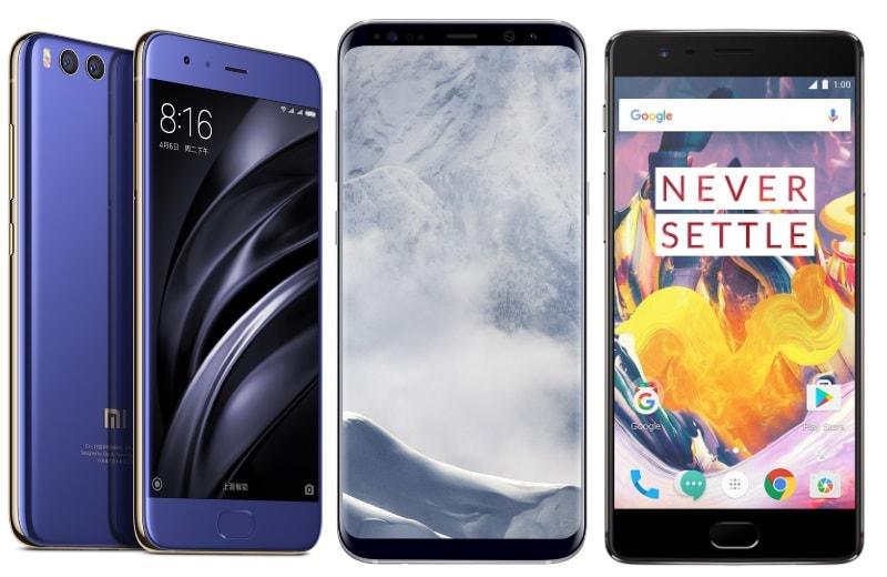 Xiaomi Mi 6 vs Samsung Galaxy S8 vs OnePlus 3T