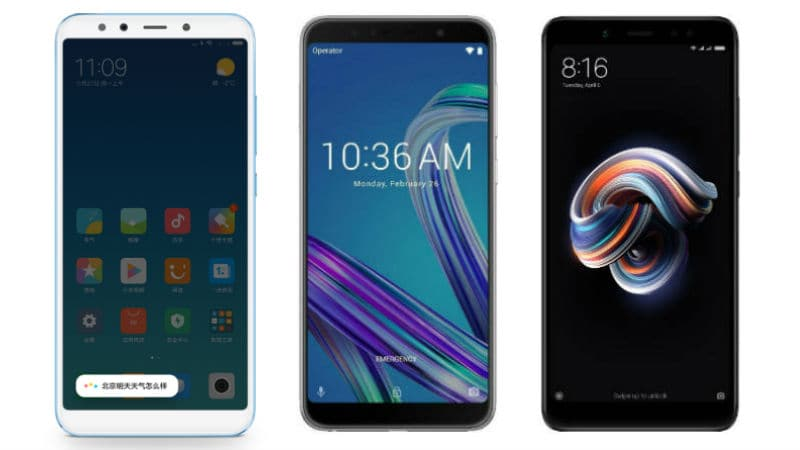 Mi 6X (Mi A2) vs Xiaomi Redmi Note 5 Pro vs Zenfone Max Pro M1: Price, Specifications, Features Compared