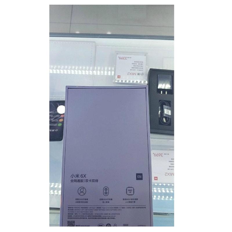 xiaomi mi 6x box inline Xiaomi Mi 6X Leaked Retail Box
