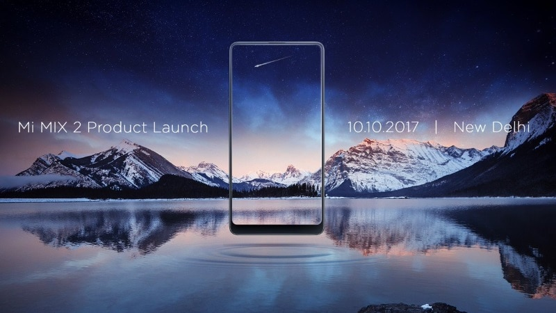Xiaomi Mi MIX 2 With Bezel-Less Display Set to Launch in India on October 10