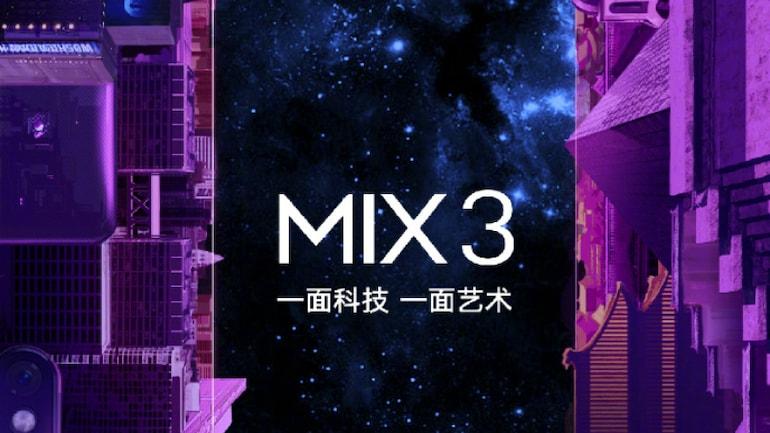 Xiaomi Mi Mix 3 होगा 25 अक्टूबर को लॉन्च
