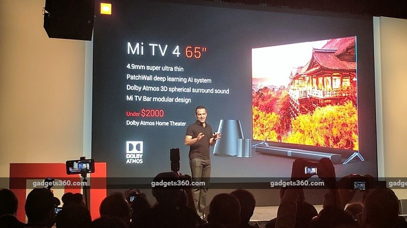 CES 2017: Xiaomi's New Mi TV 4 Is 4.9mm Thick, 30 Percent Thinner Than iPhone 7