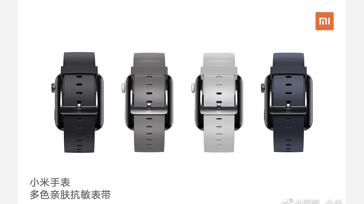 Xiaomi Mi Watch Strap Colours, Music Playback Functionality Teased Ahead of Launch