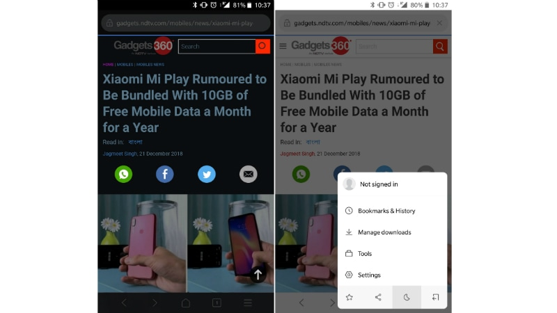 Xiaomi's new Mint Browser is Made for Underpowered Phones