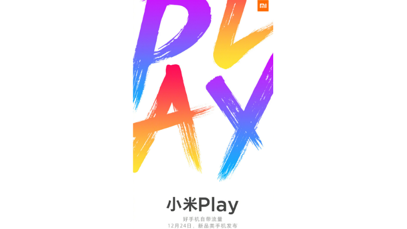xiaomi play smartphone launch december 24 weibo Xiaomi Play