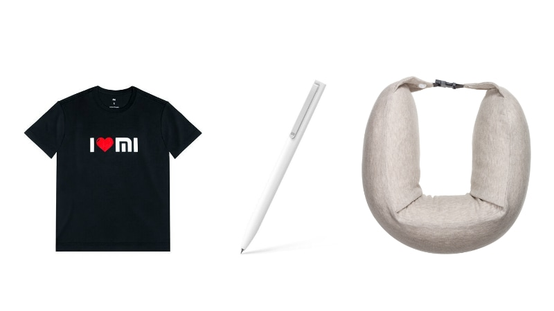 Xiaomi Mi Rollerball Pen, I Love Mi T-Shirt, Travel Pillow, and Charge Cable for Mi Band 2, Mi Band HRX Launched in India