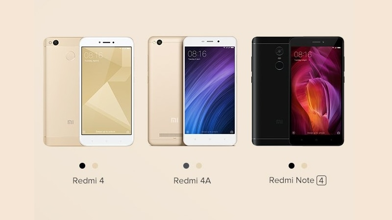 Xiaomi Redmi Note 4, Redmi 4, Redmi 4A Pre-Order Sale Today on Mi.com; Amazon and Flipkart to Hold Sales Too