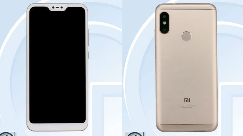 Xiaomi Redmi 6 Plus With iPhone X-Like Display Notch Spotted on TENAA