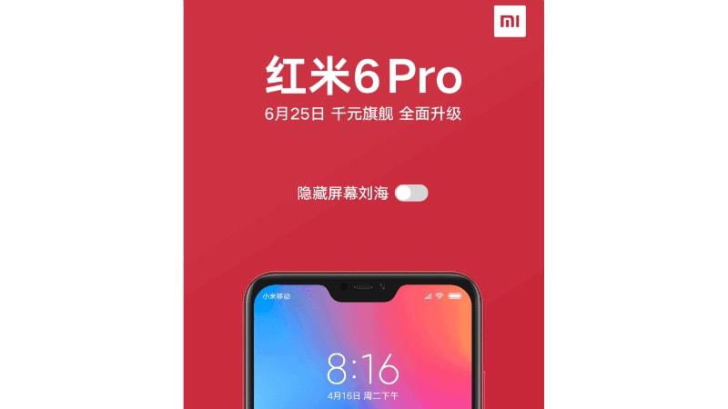 xiaomi redmi 6 pro notch teaser weibo Redmi 6 Pro