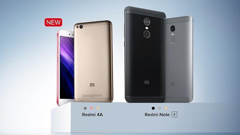 Xiaomi Redmi Note 4, Redmi 4A आज प्री-ऑर्डर के लिए होंगे उपलब्ध