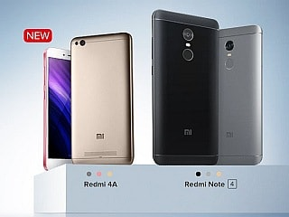 Xiaomi Redmi Note 4, Redmi 4A to Be Available for Pre-Orders via Mi.com Today